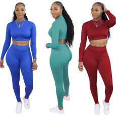 Fashionable fish scale leisure sports suit