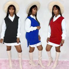 Casual shirt skirt