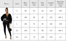 High elastic solid color bat sleeve Jumpsuit