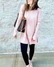 Fashion loose split stitching dress