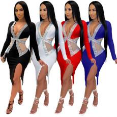Fashion hot drill irregular dress