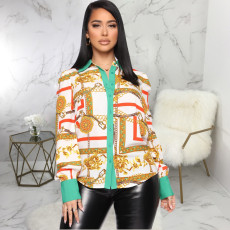 Fashionable multicolor printed shirt