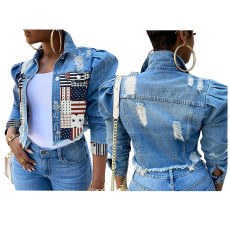 Fashion short slim denim jacket