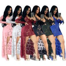 Lace perspective dress long dress