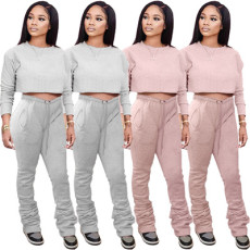 Fashion casual pleated sports suit