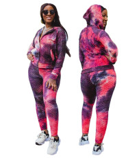 Fashion print sport fit 2-piece set