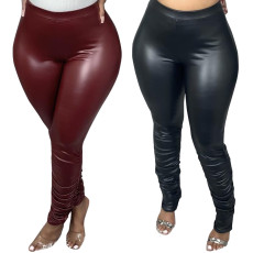 Sexy casual PU leather pants