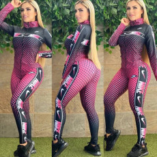 Printing and dyeing leisure fashion two piece set