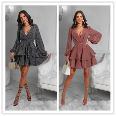 Fashionable and casual dress with ear edge