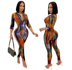 Fashion casual print Jumpsuit