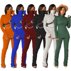 Casual sports hooded T-shirt set
