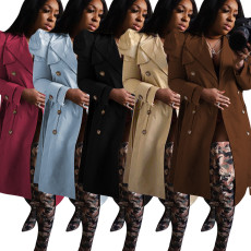 Long style trench coat
