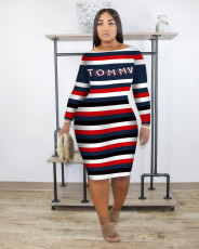 Fashionable casual Printed Dress