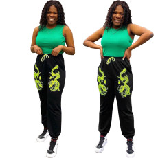 Chinese embroidery casual sports pants