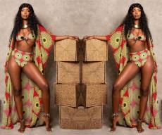 Sexy Digital Print Bikini three piece swimsuit