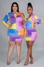 Sexy short Hip Wrap A-line dress