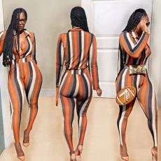 Printed fashion casual suit