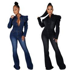 Fashion casual slim Jumpsuit