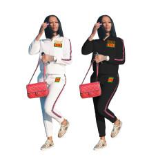 Sport print fashion suit