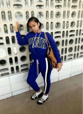 Fashion sports letter suit
