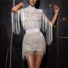 Sexy slim fringe dress