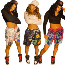 Two piece Street hip hop print set