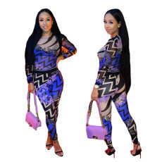 Sexy fashion print Jumpsuit