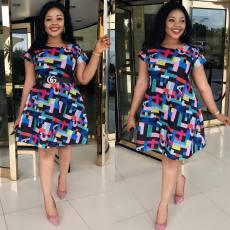 Fashion slim high waist A-line dress