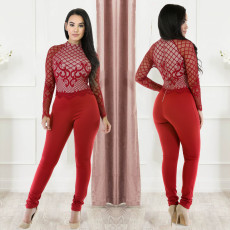 Fashion Lace perspective sexy Jumpsuit
