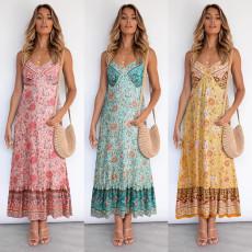Bohemian suspender Floral Dress