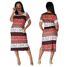 Fashion digital Printed Dress (including mask)