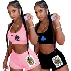 Two piece sex poker vest