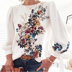 Printed T-shirt long sleeve top
