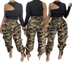 Camouflage rope fashion pants
