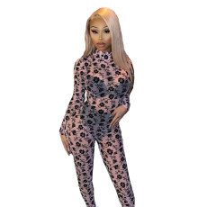 Fashionable sexy screen printed Jumpsuit