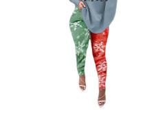 Sexy and slim digital printed Leggings