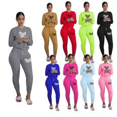 Fashion pleated print pant suit