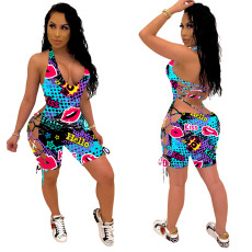 Fashion casual print sexy Jumpsuit