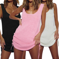 Fashion open back sleeveless dress