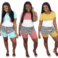 Digital printing stripe suit