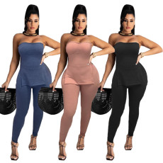 Fashion casual top with slits