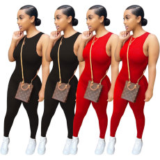 Fashionable casual sleeveless Jumpsuit