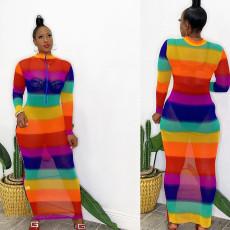 Sexy Screen Print Dress