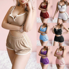 Casual two piece sleeve less set