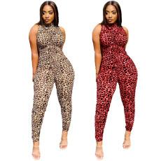Fashion Sexy Leopard Print Jumpsuit