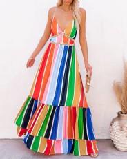 Sexy deep V sleeveless dress