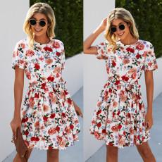 Print waist down dress