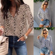 Fashion leopard collar blouse