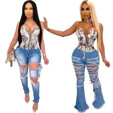 Fashion print simple Bra Top