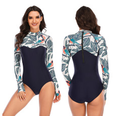 One piece surfsuit sunscreen swimsuit